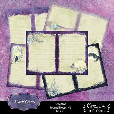 Printable Junk Journal Writing Kit, MoonDance