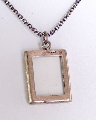 Sterling Double Photo Pendant