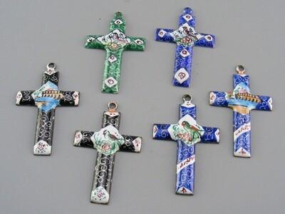 Persian Enamel Cross Pendants