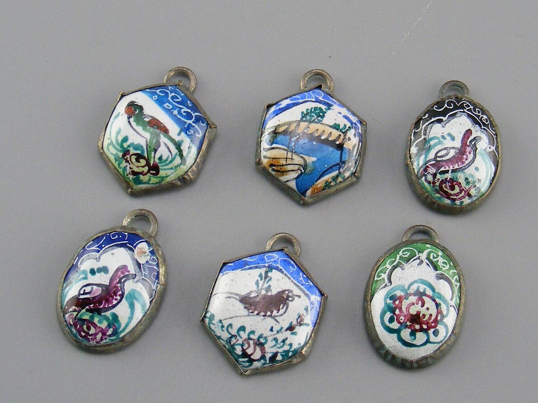 Persian Enamel Charms