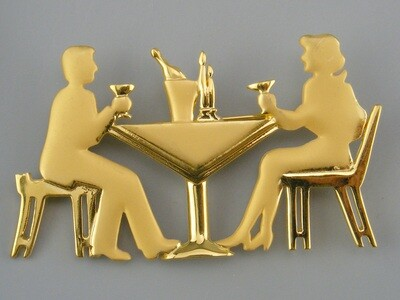 JJ Jonette brooch Dinner Couple