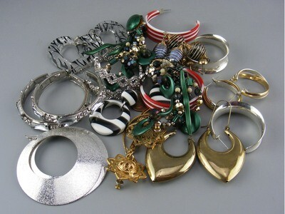 Large lot of LARGE earrings