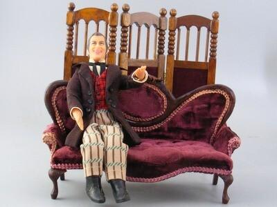 Miniature Sofa Couch Dollhouse 1:12 Artist Mell Prescott