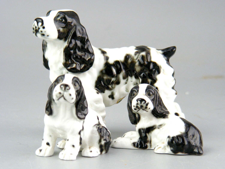 Vintage Bone China Springer Spaniel  Family