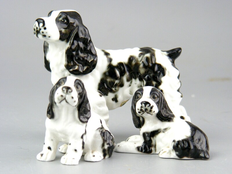 Vintage Bone China Springer Spaniel  Family