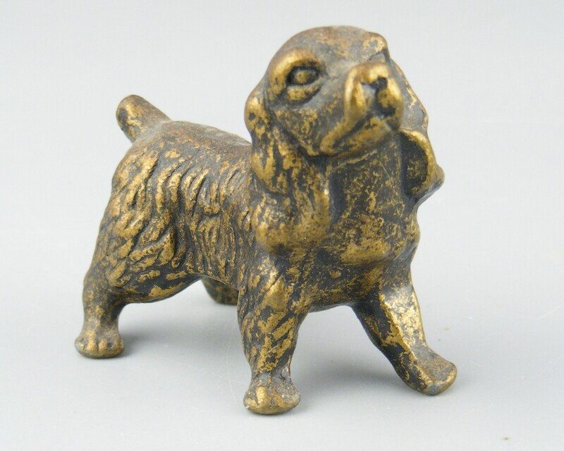 Solid Brass Cocker Spaniel Figure