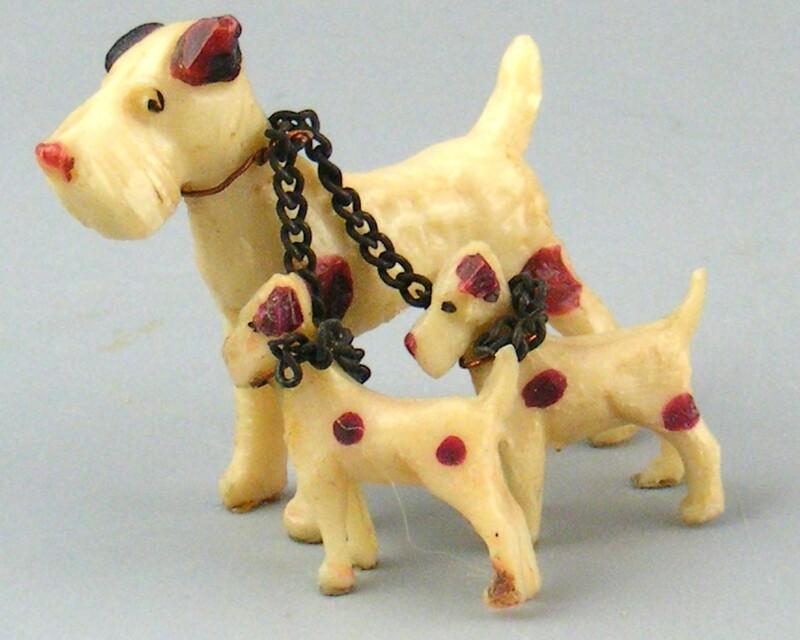 Vintage Celluloid Dog Family