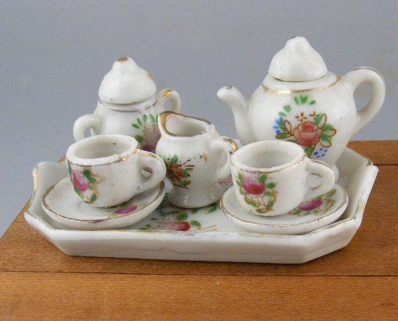 Mini Occupied Japan Porcelain Tea Set