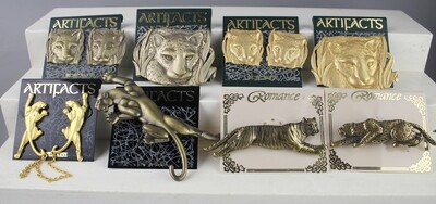 JJ Jonette collection of Big Cat Brooches