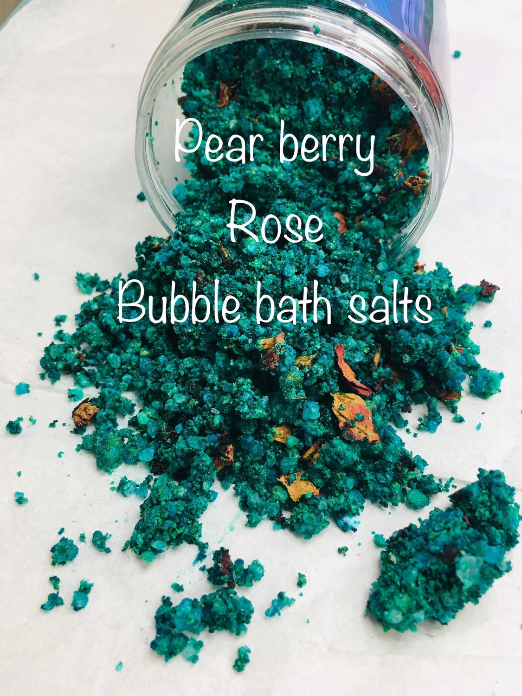 Pear berry  Rose bubble bath Salts