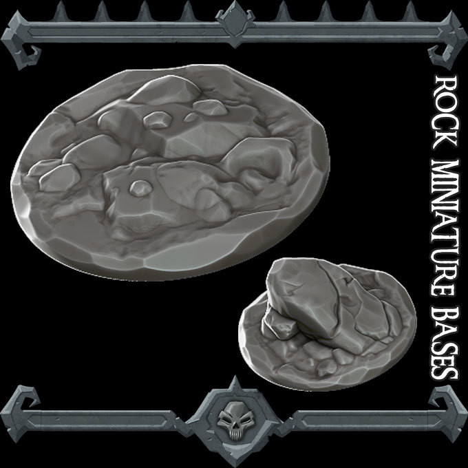 Rock Miniature Bases