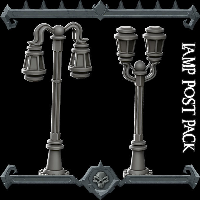 Gothic City Lamp Post Pack