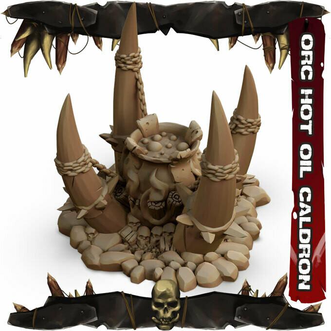 Orc Hot Oil Cauldron