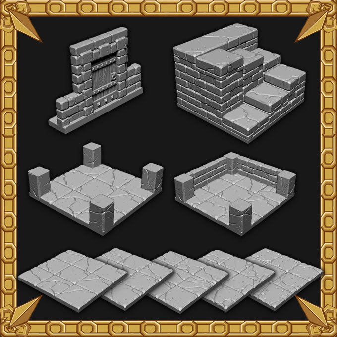 Tilescape™ DUNGEONS Short Walls Set