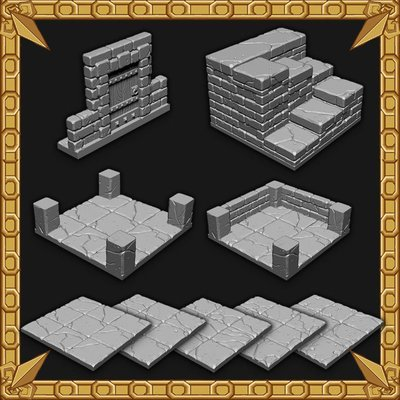 Tilescape™ DUNGEONS Short Walls Set