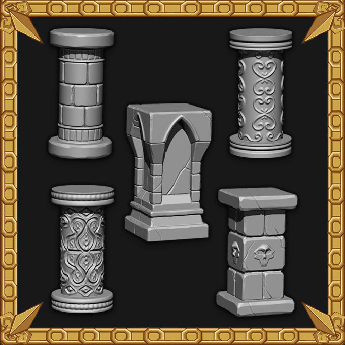 Ornate Pillar Pack