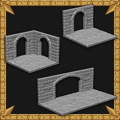 Arched Dungeon Walls Pack