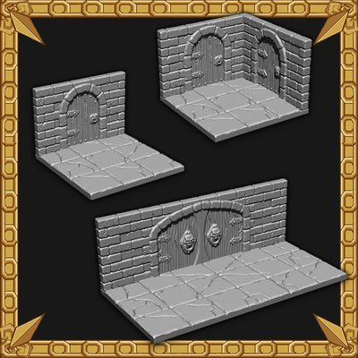 Arched Dungeon Doors Pack