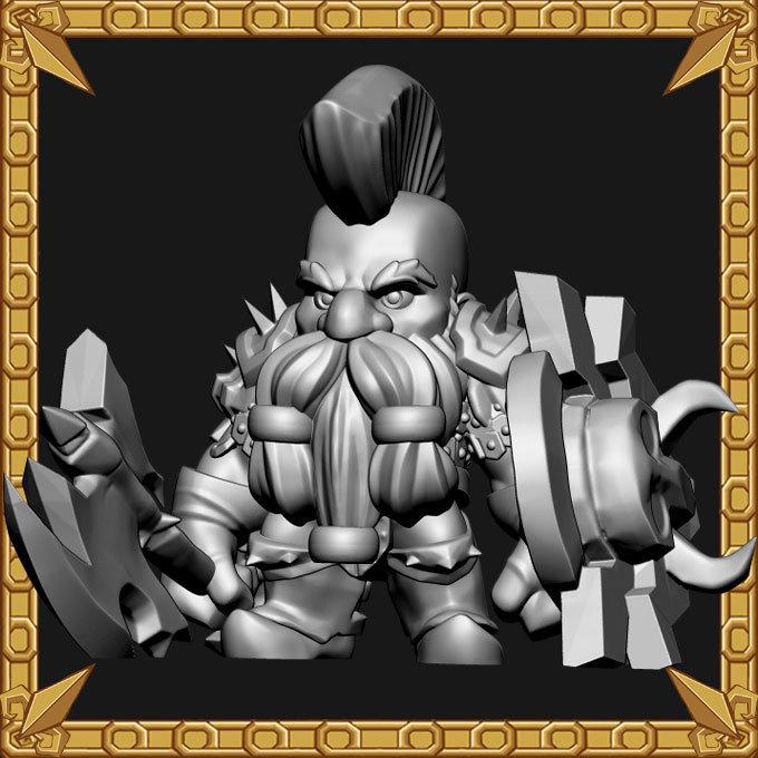 Dwarf Axe Grinder