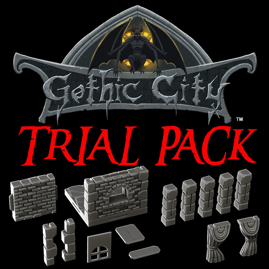 Tilescape 2.0 Gothic City Deluxe Trial Pack