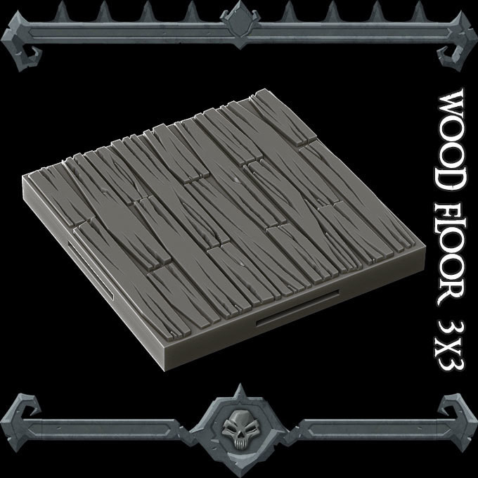 Tilescape 2.0 Gothic City Wood Floor Sample
