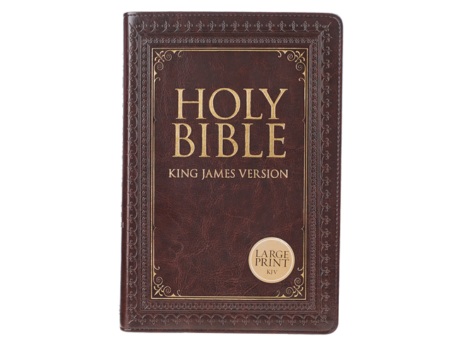 KJV Large Print Thumb Index Edition: Brown