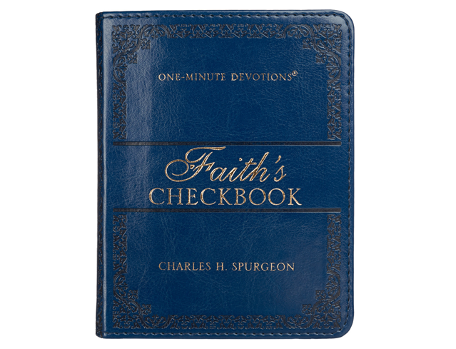 One- Minute Devotions: Faith's Checkbook LuxLeather Edition