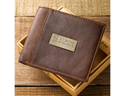 Two-Tone Genuine Leather Wallet w/