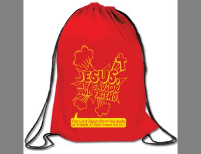 Jesus My Savior & Friend Drawstring Backpack Bag