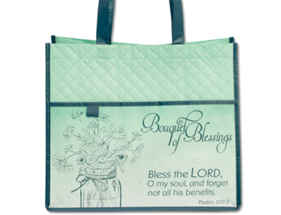 Bouquet of Blessings Textured Tote Bag