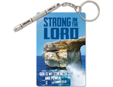 Strong in the Lord® 4 in 1 Micro Screwdriver Key Chain & Card