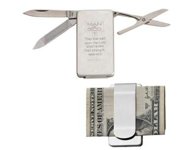 Man of God Money Clip with Tools