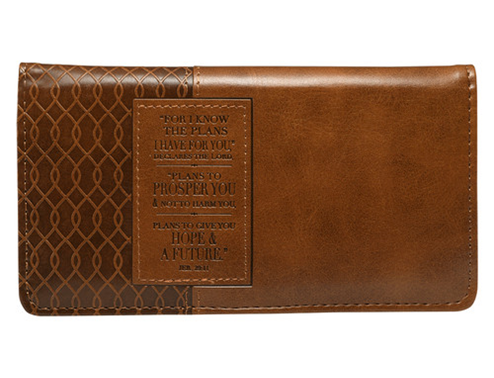 Jeremiah 29:11 Two-tone Checkbook Cover