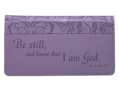 Psalm 46:10 Purple Checkbook Cover