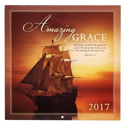 2017 LARGE WALL CALENDAR - AMAZING GRACE