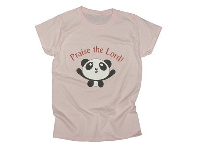 PRAISE THE LORD PANDA LADIES FROST PINK