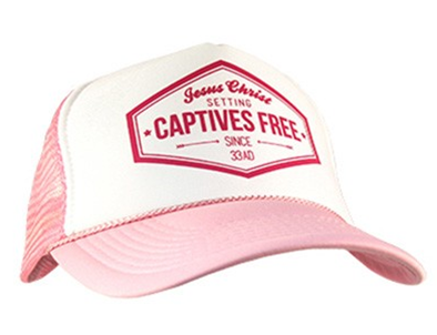 CAP PINK LADIES JESUS CHRIST CAPTIVES FREE