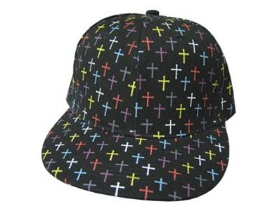 CAP COLORFUL CROSSES BLACK