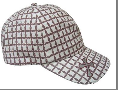 CAP WHITE W/CROSSES