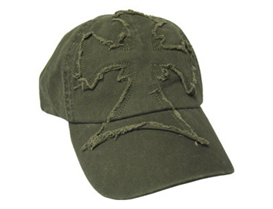 CAP ARMY GREEN FRAYED CROSS