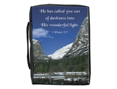 BIBLE COVER OUT OF DARKNESS 1 PETER 2:9 L