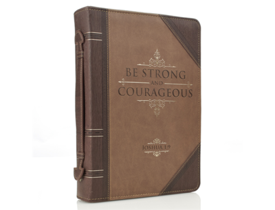 """""""Be Strong and Courageous"""" Bible Cover"""