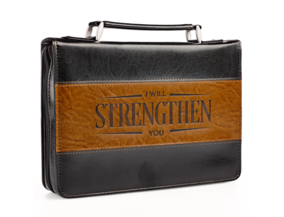 """""""I WILL STRENGTHEN YOU"""" TWO-TONE BIBLE COVER"""