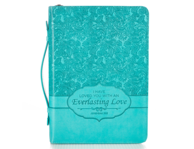 """""""EVERLASTING LOVE"""" BIBLE COVER FEATURING JEREMIAH 31:3"""