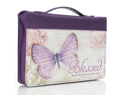 """""""BLESSED"""" BIBLE COVER IN PURPLE"""
