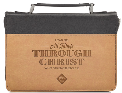 """""""ALL THINGS THROUGH CHRIST"""" BIBLE COVER"""