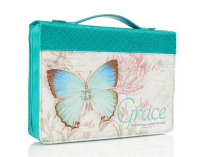 """""""GRACE"""" BIBLE COVER IN TEAL"""