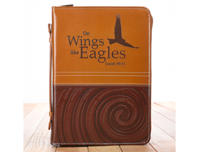"""""""ON WINGS LIKE EAGLES"""" BIBLE COVER"""