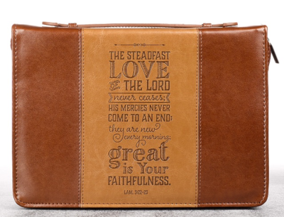 """""""STEADFAST LOVE"""" TWO-TONE BIBLE COVER"""