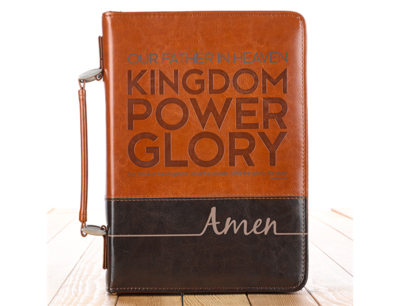 """""""THE LORD'S PRAYER"""" TWO-TONE BIBLE COVER"""